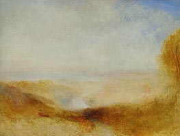 Landscape with River and a Bay in the far Background | J. M. W. Turner | Painting Reproduction