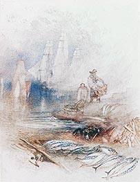 Mackerel on the Beach | J. M. W. Turner | Painting Reproduction