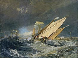Fishing Boats Entering Calais Harbor, c.1803 by J. M. W. Turner   Painting Reproduction