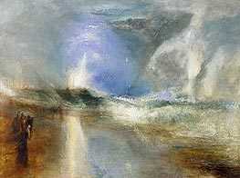 Rockets and Blue Lights (Close at Hand)   to Warn Steamboats of Shoal Water, 1840 by J. M. W. Turner | Painting Reproduction