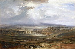 Raby Castle, the Seat of the Earl of Darlington, 1817 by J. M. W. Turner   Painting Reproduction