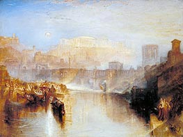 Ancient Rome: Agrippina Landing with the Ashes of Germanicus, 1839 by J. M. W. Turner | Painting Reproduction