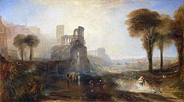 Caligula's Palace and Bridge, 1831 by J. M. W. Turner | Painting Reproduction