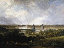 London from Greenwich Park, 1809 by J. M. W. Turner | Painting Reproduction