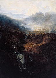 Morning amongst the Coniston Fells, Cumberland, 1798 by J. M. W. Turner | Painting Reproduction