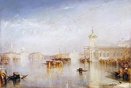 The Dogano, San Giorgio, Citella, from the Steps of the Europa, 1842 by J. M. W. Turner | Painting Reproduction