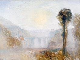 The Ponte Delle Torri, Spoleto, c.1840/45 by J. M. W. Turner | Painting Reproduction