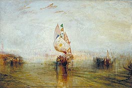The Sun of Venice Going to Sea, 1843 by J. M. W. Turner | Painting Reproduction