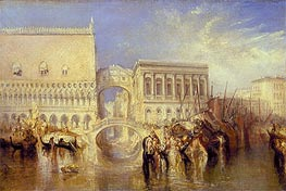 Venice, the Bridge of Sighs, 1840 by J. M. W. Turner | Painting Reproduction