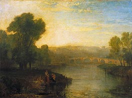 View of Richmond Hill and Bridge, 1808 by J. M. W. Turner | Painting Reproduction