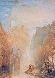 On the Upper Rhine, undated by J. M. W. Turner | Painting Reproduction