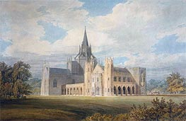 Perspective View of Fonthill Abbey from the South-West, undated by J. M. W. Turner | Painting Reproduction