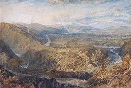 Crook of Lune, Looking towards Hornby Castle, c.1816/18 by J. M. W. Turner | Painting Reproduction