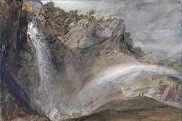 Upper Falls of the Reichenbach, 1802 by J. M. W. Turner | Painting Reproduction