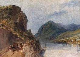 The Drachenfels, 1817 by J. M. W. Turner | Painting Reproduction