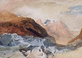 Mer de Glace, Chamonix with Blair's Hut, c.1806 by J. M. W. Turner | Painting Reproduction