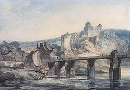 Chepstow Castle, c.1793 by J. M. W. Turner | Painting Reproduction