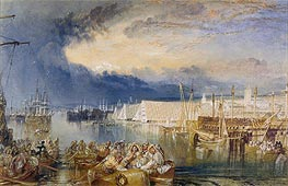 Devonport and Dockyard, Devonshire, c.1825/29 by J. M. W. Turner | Painting Reproduction