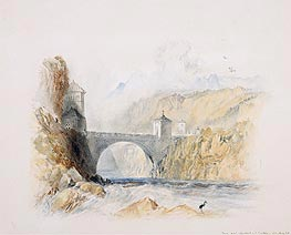 Landscape with Bridge, undated by J. M. W. Turner | Painting Reproduction