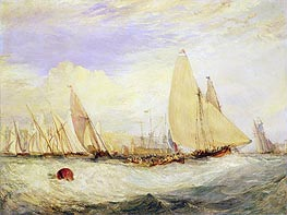 East Cowes Castle, the Seat of J. Nash, Esq., the Regatta Beating to Windward, 1828 by J. M. W. Turner | Painting Reproduction