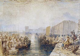 Le Havre: Sunset, c.1827 by J. M. W. Turner | Painting Reproduction