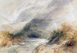 Llanthony Abbey, Monmouthshire, 1834 by J. M. W. Turner | Painting Reproduction
