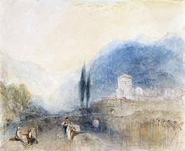 Bellinzona, 1842 by J. M. W. Turner | Painting Reproduction