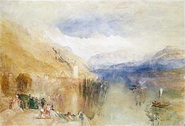 Oberhofen, Lake Thun, c.1848 by J. M. W. Turner | Painting Reproduction