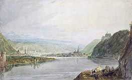 Remagen, Erpel and Linz, 1817 by J. M. W. Turner | Painting Reproduction