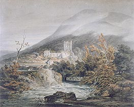 Llanthony Abbey, Monmouthshire, c.1792 by J. M. W. Turner | Painting Reproduction