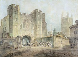 King Edgar's Gate, Worcester, c.1794 by J. M. W. Turner | Painting Reproduction