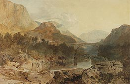 Borrowdale, Rosthwaite Bridge and Castle Crag, c.1798/99 by J. M. W. Turner | Painting Reproduction