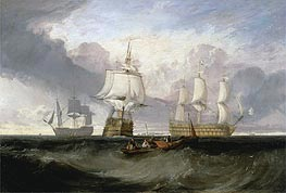 The Victory Returning from Trafalgar in Three Positions, undated by J. M. W. Turner | Painting Reproduction