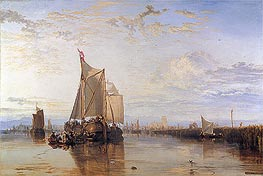 Dort or Dordrecht: The Dort Packet-Boat from Rotterdam Becalmed, 1818 by J. M. W. Turner | Painting Reproduction