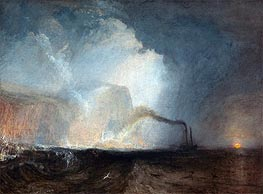 Staffa, Fingal's Cave, undated by J. M. W. Turner | Painting Reproduction