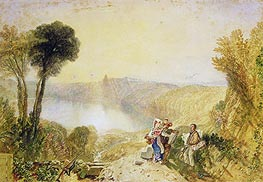 Lake Albano, undated by J. M. W. Turner | Painting Reproduction