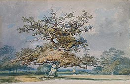 A Landscape with an Old Oak Tree, undated by J. M. W. Turner | Painting Reproduction