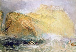 Tintagel Castle, Cornwall, undated by J. M. W. Turner | Painting Reproduction