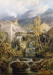 The Old Mill, Ambleside, undated by J. M. W. Turner | Painting Reproduction