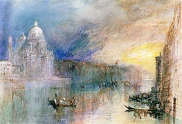 Venice: Grand Canal with Santa Maria della Salute, undated by J. M. W. Turner | Painting Reproduction