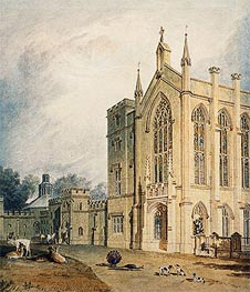 Cassiobury, West Front, c.1807 by J. M. W. Turner | Painting Reproduction