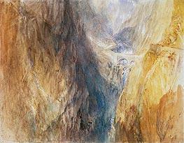 The Devil's Bridge, St. Gotthard, c.1841 by J. M. W. Turner | Painting Reproduction