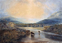 Abergavenny Bridge, Monmouthshire: Clearing Up After a Showery Day, undated by J. M. W. Turner | Painting Reproduction