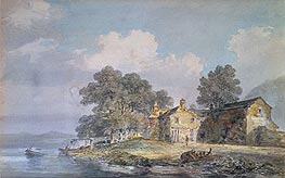 A Farmhouse by a Lake in the Lake District, c.1797 by J. M. W. Turner | Painting Reproduction