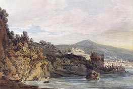 The Coast Under Vietri, near Salerno, undated by J. M. W. Turner | Painting Reproduction