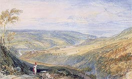 Gibside, County Durham from the South, undated by J. M. W. Turner | Painting Reproduction