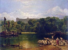 Windsor Castle from the Thames, c.1805 by J. M. W. Turner | Painting Reproduction