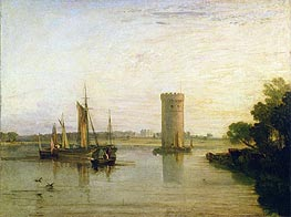 Tabley, the Seat of Sir J.F. Leicester (Calm Morning), c.1809 by J. M. W. Turner | Painting Reproduction
