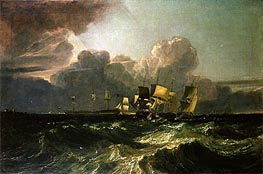 Ships Bearing up for Anchorage (The Egremont Sea Piece), 1802 by J. M. W. Turner | Painting Reproduction