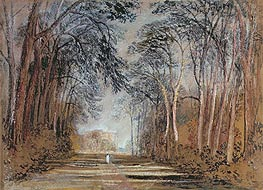 Farnley Avenue, Farnley Hall, Yorkshire, undated by J. M. W. Turner | Painting Reproduction